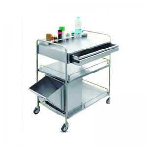 TROLLEY DRESSING DRAWER SHELVES TRASH