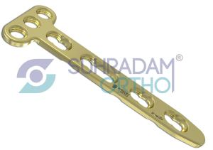 2.7mm LCP T Dorsal Distal Radius Plate [03 hole head]