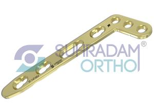 2.7mm LCP L Dorsal Distal Radius Plate, Oblique [03 hole head]