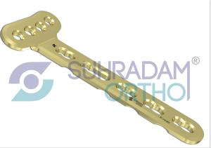2.7mm LCP Distal Radius Plate, Extra-Articular [04 hole head]