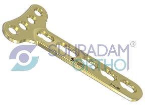 3.5mm LCP T Plate , Right-angle [04 hole head]