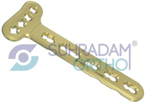 2.4/2.7mm LCP-VA Distal Radius Extra-Articular Plate [04 hole head]