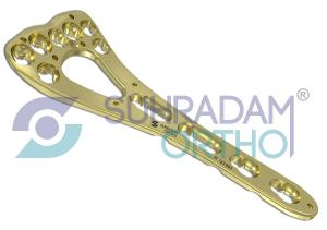 2.4/2.7mm LCP Variable Angle Two-column Volar Distal Radius Plate [07 hole head]