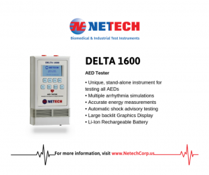 The Delta 1600 is the ideal tester for AEDs