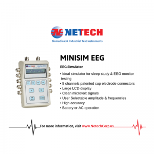MiniSim EEG Simulator is designed to test EEG instruments including Recorders and Sleep Study Monitors.