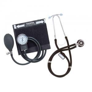 Black Emerald Sphygmomanometer & Sprague Rappaport Stethoscope Set