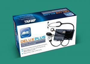 AME DELUXE PLUS (ANEROID SPHYGMOMANOMETER + STETHOSCOPE)