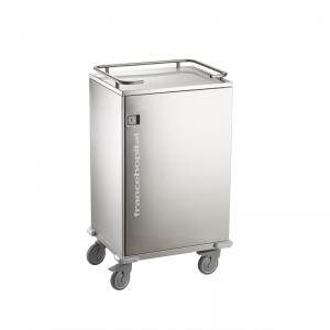 CT40-S clean linen cabinet with top railing for containment of objects. this also serves as push handle