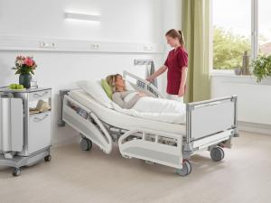 Evario hospital bed by Stiegelmeyer