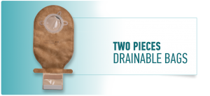 TWO PIECES DRAINABLE BAGS COLOSTOMY & ILEOSTOMY